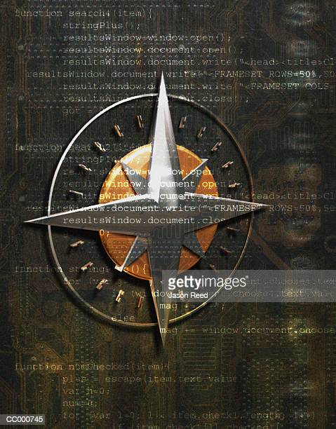 Compass Symbol and Code Composite