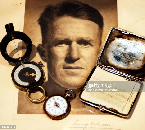 A compass watch and cigarette case once owned by Lawrence of Arabia which form part of a sale at Christies in London on September 27 where they have...