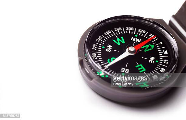 compass with copy space - aiming stock pictures, royalty-free photos & images