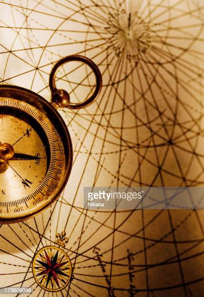 Compass with Old Map