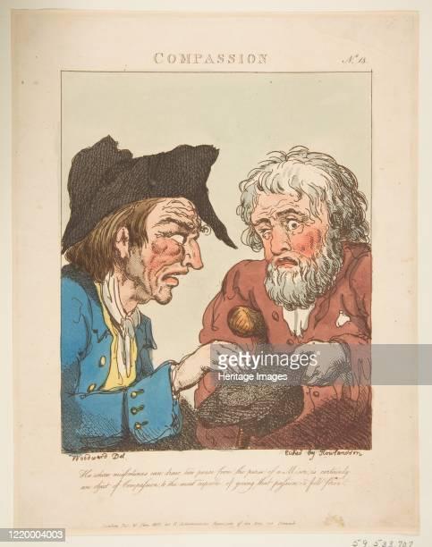 Compassion , January 21, 1800. Artist Thomas Rowlandson.