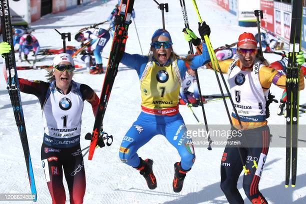 Competes during the Women 10 km Pursuit Competition at the IBU World Championships Biathlon Antholz-Anterselva on February 16, 2020 in...