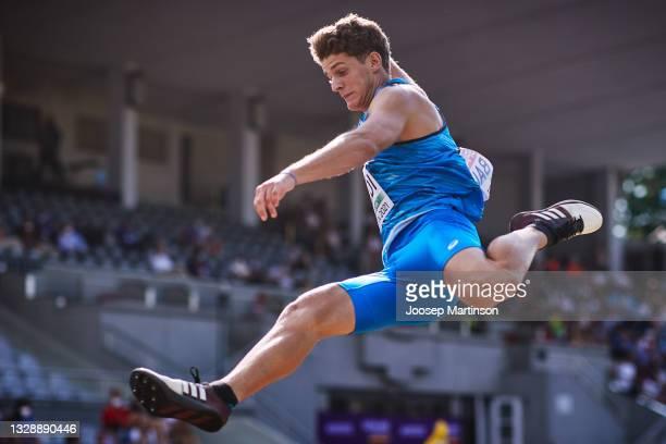Competes in the XXX during European Athletics U20 Championships Day 1 at Kadriorg Stadium on July 15, 2021 in Tallinn, Estonia.