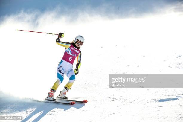 competes in Woman's Giant Slalom during Winter Youth Olympic Games Lausanne 2020 in Les Diablerets Switzerland on January 12 2020