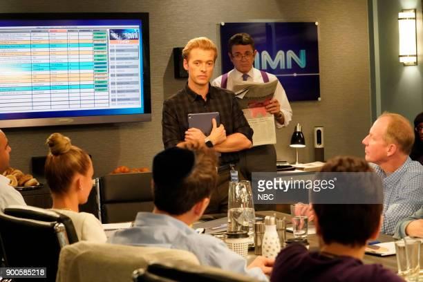 NEWS 'Competing Offer' Episode 211 Pictured Adam Campbell as Greg Walsh John Michael Higgins as Chuck Pierce