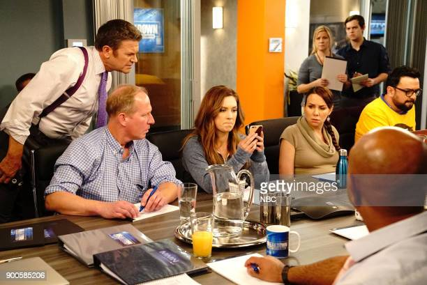 NEWS 'Competing Offer' Episode 211 Pictured John Michael Higgins as Chuck Pierce Briga Heelan as Katie Wendelson Tracey Wigfield as Beth Vierk...