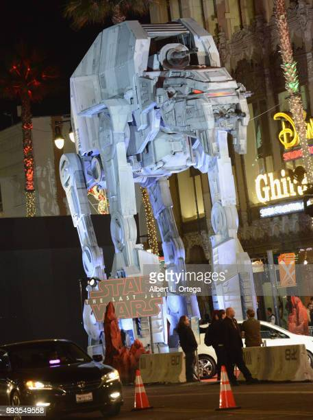 Competing screening accross the street at the El Capitan theatre with ATM6 Walker on display at the Opening Night Celebration Of Walt Disney Pictures...