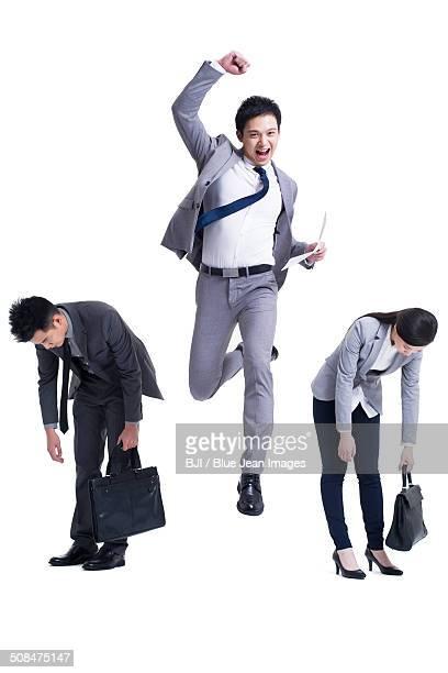 competition among job seekers - ガッツポーズ ストックフォトと画像