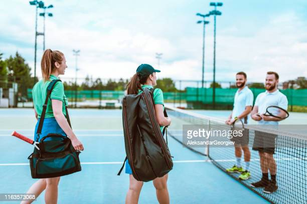 competition arrives - tennis player stock pictures, royalty-free photos & images