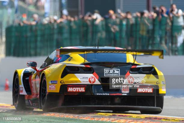 50Larbre Competition Chevrolet Corvette C7.R Z06 driving on track during the 6 Hours of Spa-Francorchamps race, the second round of the 2016 FIA...