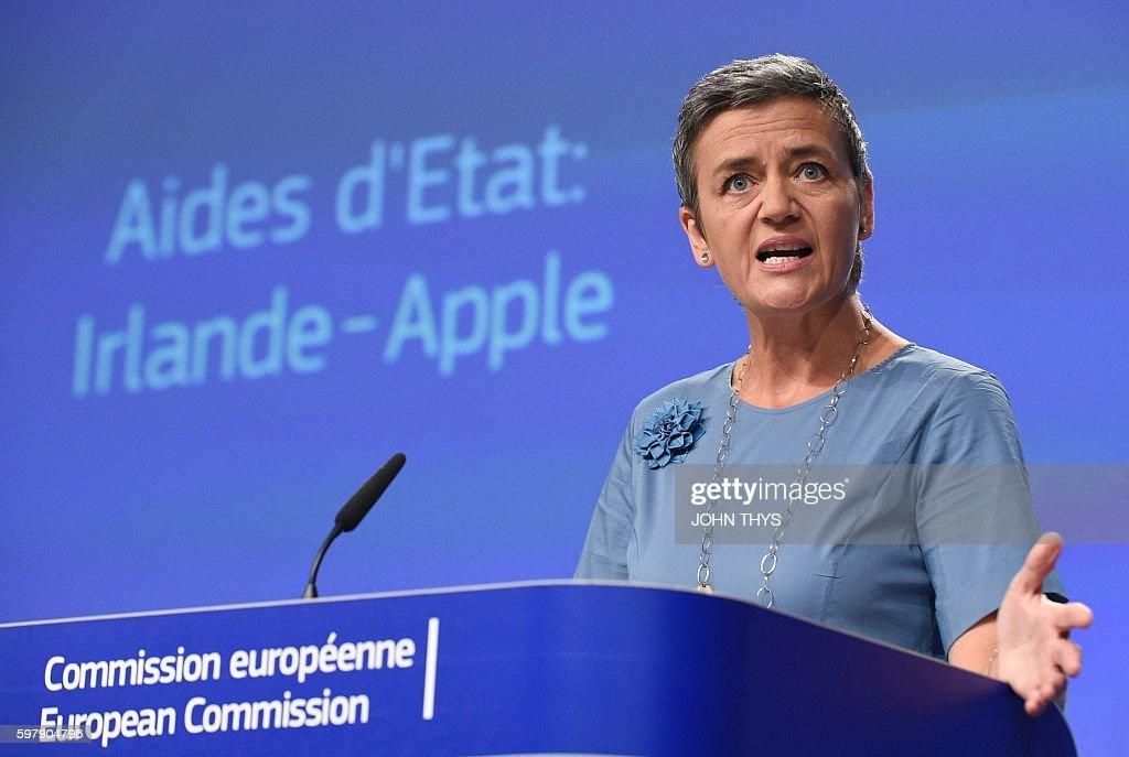 BELGIUM-EU-APPLE-IRELAND-TAX-TECH : News Photo