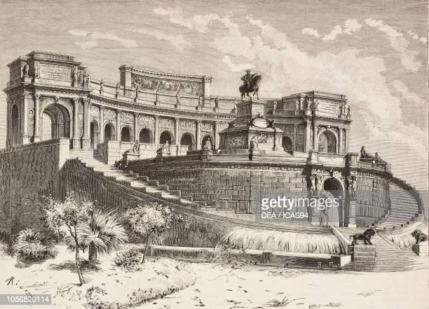 Competition for the Vittorio Emanuele II monument in Rome design by Gherardo Rega Italy engraving from L'Illustrazione Italiana No 18 May 4 1884