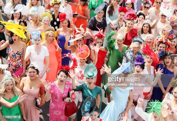 Competition hopefuls attend Ladies Day during day four of the 2019 Summer Festival at Galway Racecourse