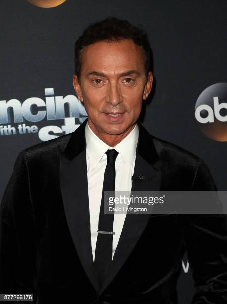 Competition judge Bruno Tonioli poses at 'Dancing with the Stars' season 25 at CBS Televison City on November 21 2017 in Los Angeles California