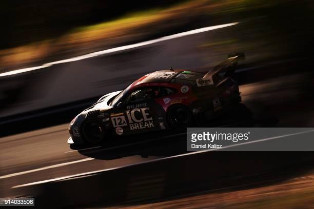 David CalvertJones Patrick Long Matt Campbell Alex Davison drives during the 2018 Bathurst 12 Hour Race at Mount Panorama on February 4 2018 in...