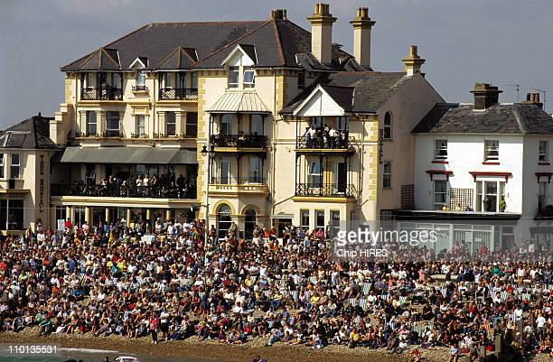 Competition of Flying man in Bognor Regis United Kingdom on September 01 1996