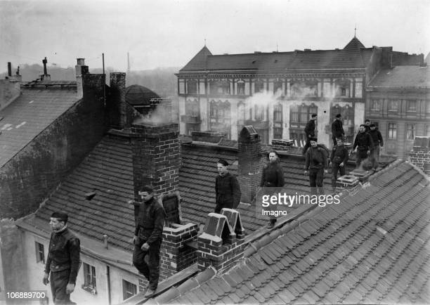 Competition of the chimney sweeper prentices Berlin Germany Photograph April 11th 1934