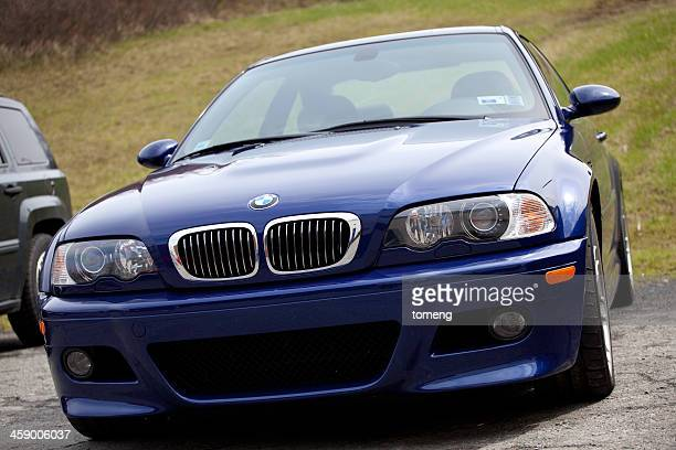 bmw m3 competition smg coupe - bmw stock pictures, royalty-free photos & images