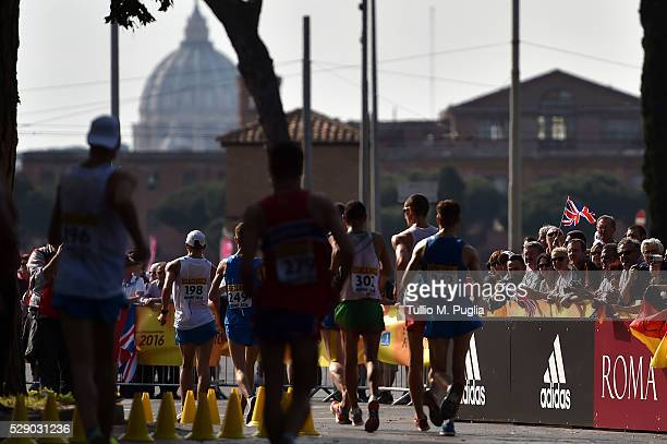 Competitiors in action during the man's 20Km Race Walk at IAAF World Race Walking Team Championship Rome 2016 on May 7, 2016 in Rome, Italy.