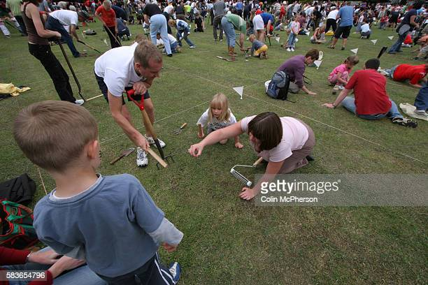 Competitiors taking part in the 27th World Worm Charming Championships which took place in the small Cheshire village of Willaston The annual event...