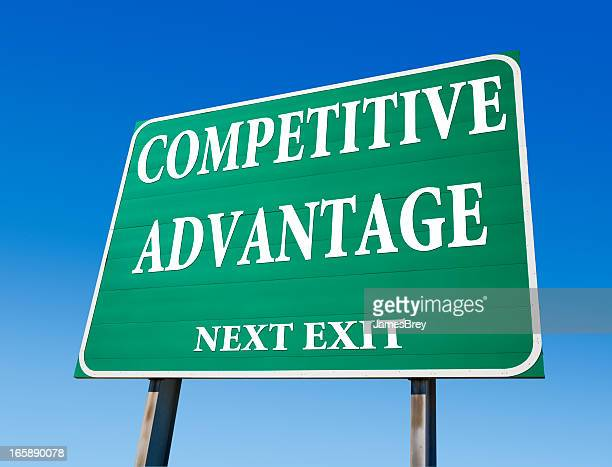 Competitive Advantage Road Sign