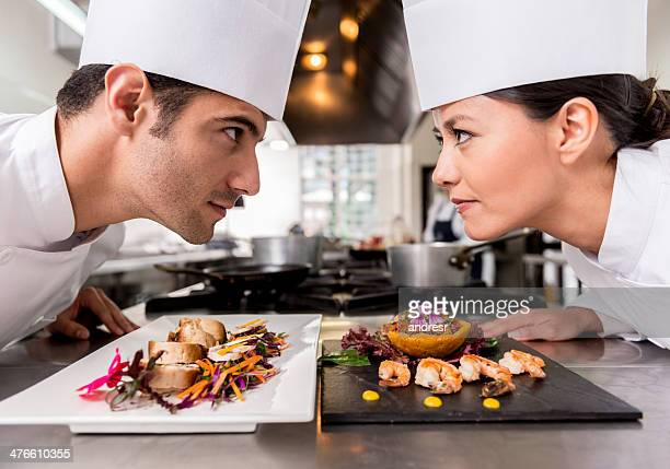 competitive chefs - contest stock pictures, royalty-free photos & images