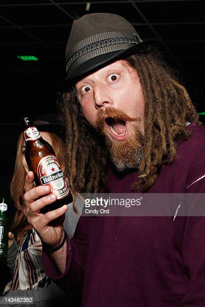 Competitive eater Crazy Legs Conti attends Heineken Presents Side by Side Fan QA on April 26 2012 in New York City