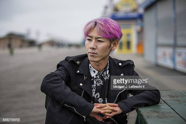 Where Are They Now Closeup portrait of competitive eater Takeru Kobayashi posing during photo shoot at Coney Island Boardwalk Kobayashi won the...
