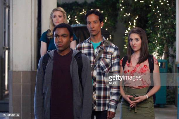 COMMUNITY 'Competitive Ecology' Episode 304 Pictured Gillian Jacobs as Britta Donald Glover as Troy Danny Pudi as Abed Alison Brie as Annie