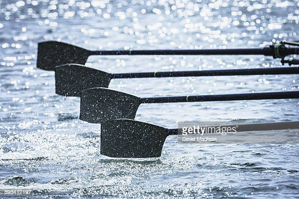 Competitive rowing oars