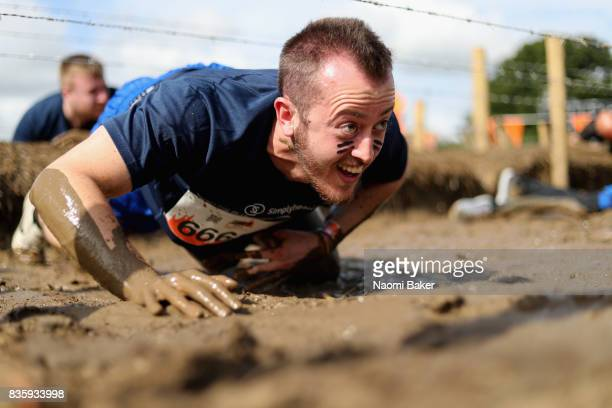 Competitor during the 2017 Tough Mudder South West at Badminton Estate on August 20 2017 in Cirencester England