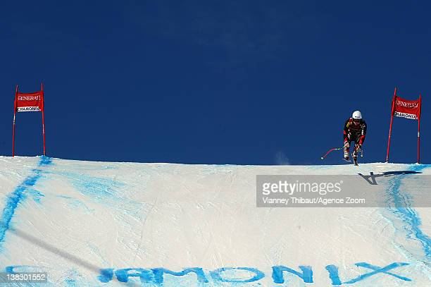 A competitor during the Audi FIS Alpine Ski World Cup Men's Super Combined on February 5 2012 in Chamonix France