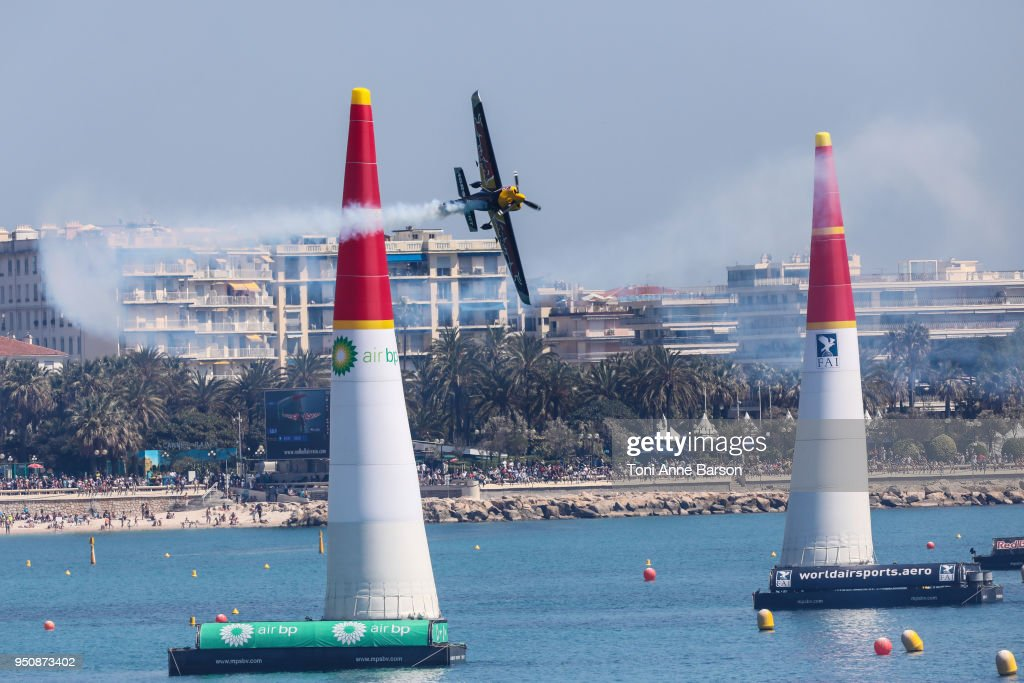 Competitor during the Red Bull Air Race on April 22, 2018 in