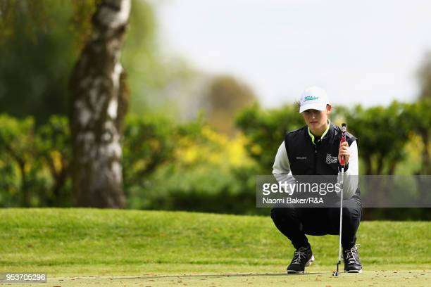 A competitor in action during the final round of the Girls' U16 Open Championship at Fulford Golf Club on April 29 2018 in York England