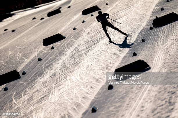 Competitor in action during the Men's 15km free at the Coop FIS Cross-Country World Cup Falun at on January 29, 2021 in Falun, Sweden.