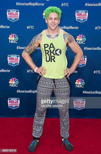 Competitor Jamie Rahn attends American Ninja Warrior screening and course demonstration In celebration of the show's first Emmy Award nomination at...