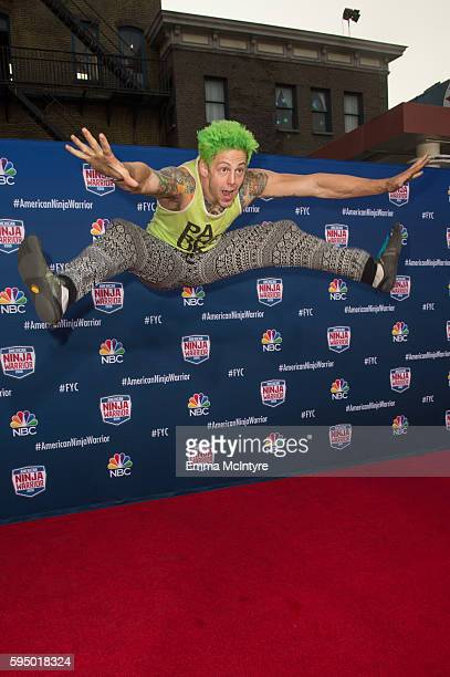 Competitor Jamie Rahn attends the screening event of NBC's 'American Ninja Warrior' in celebration of the show's first Emmy Award nomination at...
