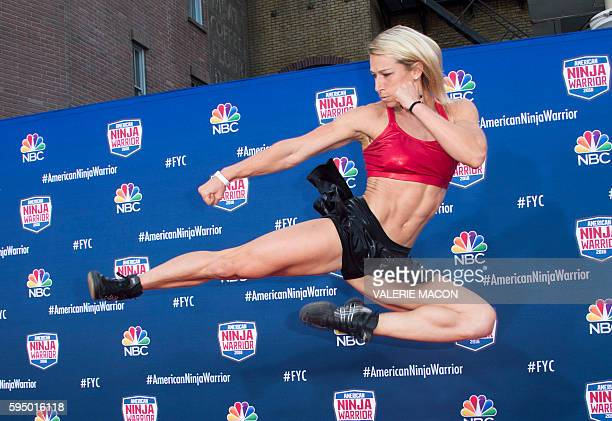 Competitor Jessie Graff attends 'American Ninja Warrior' screening and course demonstration In celebration of the show's first Emmy Award nomination...