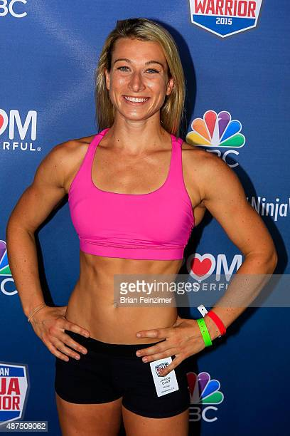 Competitor Jessie Graff attends the NBC's 'American Ninja Warrior' season 7 finale preview screening held at The Autry National Center on September 9...