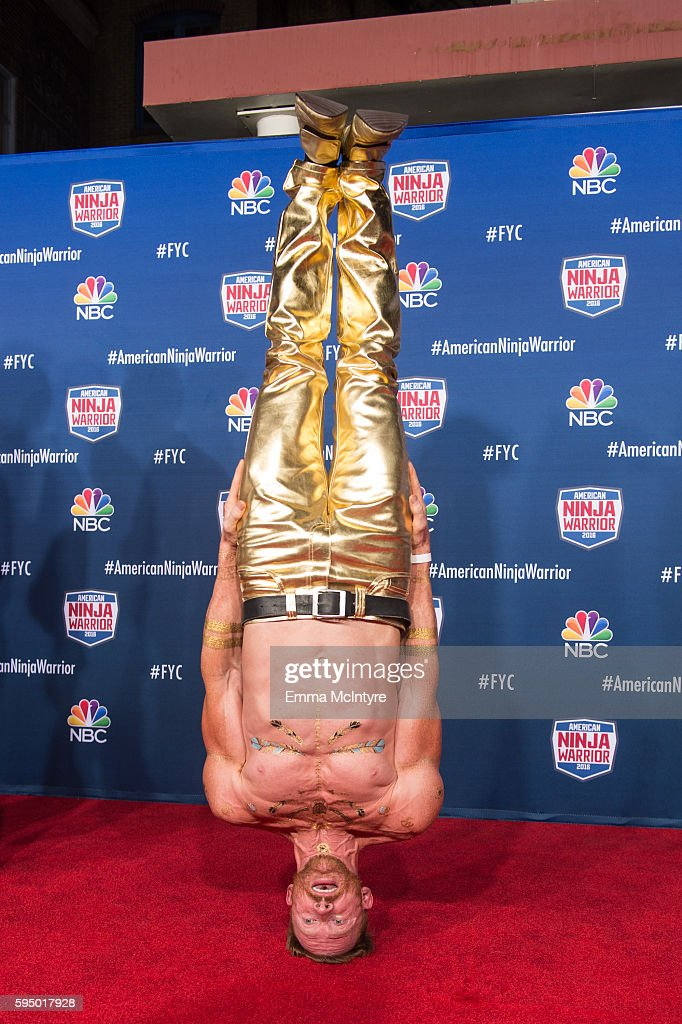 Competitor Neil Craver attends the screening event of NBC's 'American Ninja Warrior' in celebration of the show's first Emmy Award nomination at Universal Studios Hollywood on August 24, 2016 in Universal City, California.