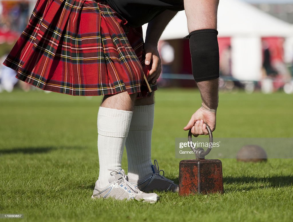 """Competitor preparing to throw at """"Weight over the Bar"""" : Stock Photo"""