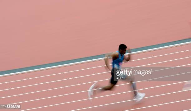 A competitor runs in the Men's 400 metres during the British Universities and Colleges Sport Athletics Championships a part of the London Prepares...