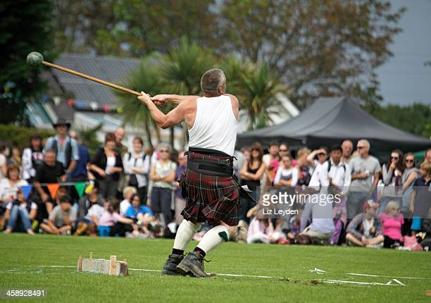 Competitor: Scots Hammer competition, Brodick Highland Games