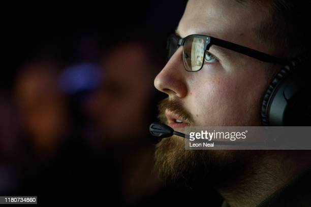A competitor takes part in a highpressure match at the epicLAN esport tournament at the Kettering Conference Centre on October 12 2019 in Kettering...