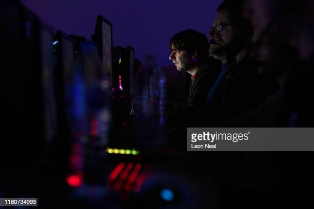 A competitor takes part in a match at the epicLAN esport tournament at the Kettering Conference Centre on October 12 2019 in Kettering England...