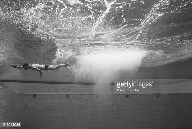 Competitor trains ahead of day 8 of the 2016 U.S. Olympic Team Trials for diving at Indiana University Natatorium on June 22, 2016 in Indianapolis,...