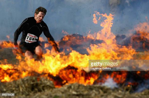 Competitors are pushed to the limits as they compete in the 2009 Tough Guy Challenge on February 1 2009 in Wolverhampton England