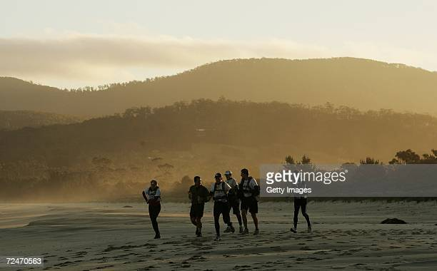 Competitors are seen in action during day five of the Mark Webber Pure Tasmania Challenge on November 9 2006 in Bruny Island Australia