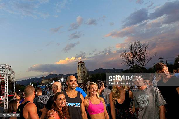 Competitors attend the NBC's 'American Ninja Warrior' season 7 finale preview screening held at The Autry National Center on September 9 2015 in Los...