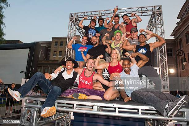 Competitors attend the screening event of NBC's 'American Ninja Warrior' in celebration of the show's first Emmy Award nomination at Universal...
